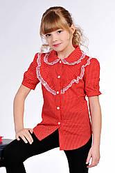 Блузка для девочки в горошек