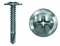 Шуруп по металу 4,2х19 пресшайба білий цинк