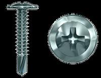 Шуруп по металу  4,2х32 пресшайба білий цинк