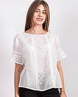 Легкая блуза из коттона / Біла легка блуза