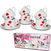 Набор чайный 12 пр Маки SNT 533-21