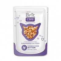 Консервы Brit Care Kitten Chicken & Cheese для котят с курицей и сыром, 80 г, фото 1