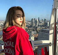 Толстовка Anti Social social club Женская A.S.S.C. | Красная | Все размеры