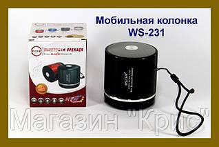 Bluetooth портативная колонка WS-231!Опт
