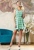 Летнее молодёжное платье-сарафан, с цветочным принтом, размеры 42-48