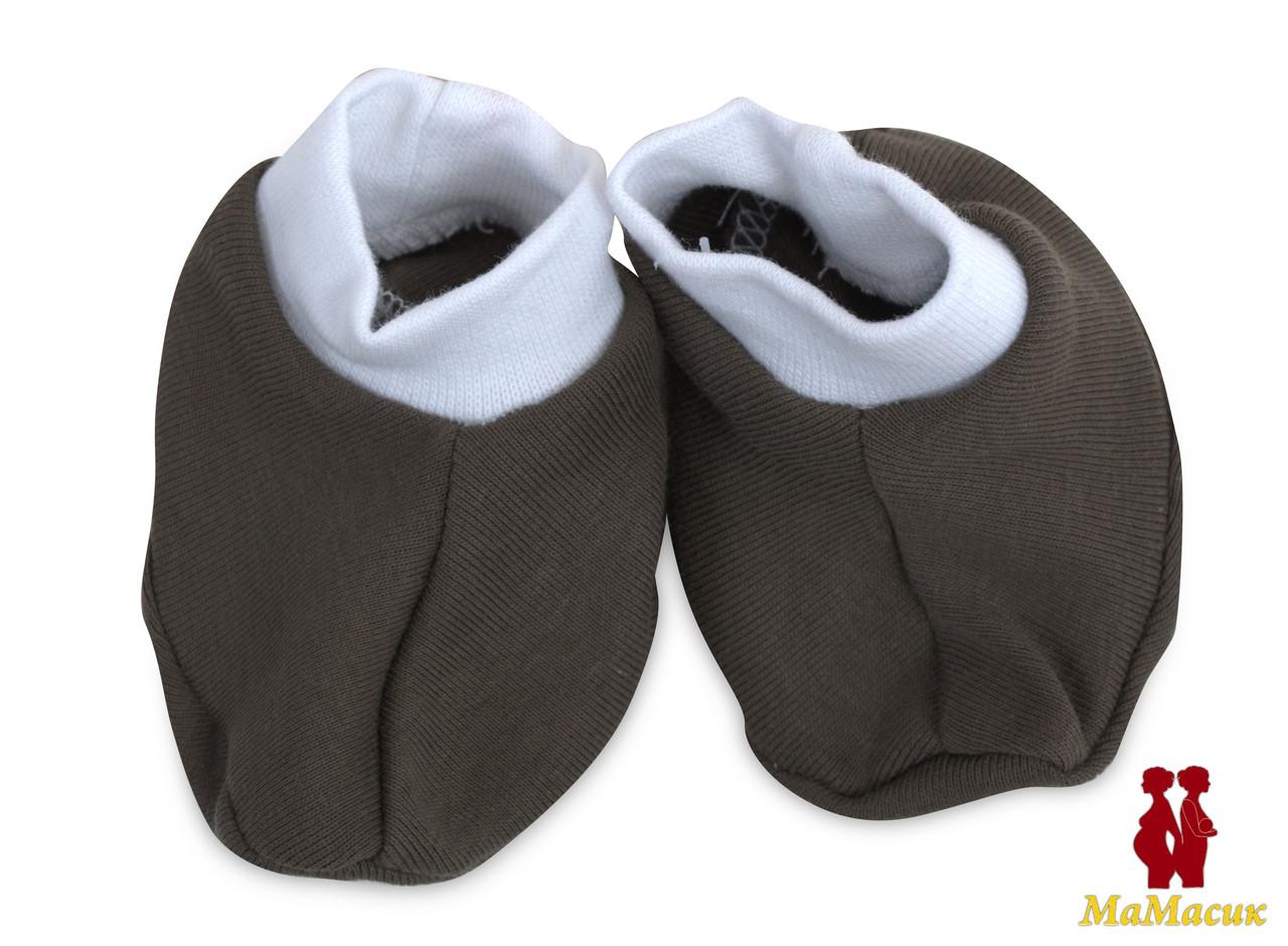 Пинетки для новорожденных (рубчик), фото 1