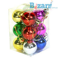 Новогодний набор шаров Малютка 12 шт 3см