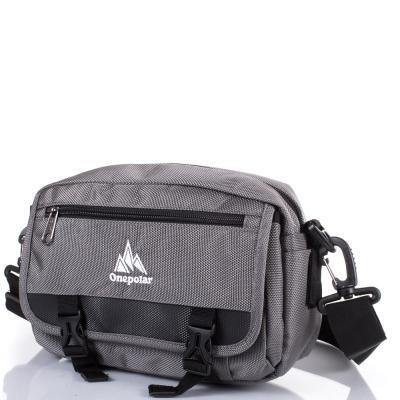f04efe70b7d8 Сумка спортивная Onepolar Мужская спортивная сумка ONEPOLAR (ВАНПОЛАР)  W5078-grey - Интернет-