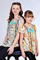 Детская блузка с модным принтом
