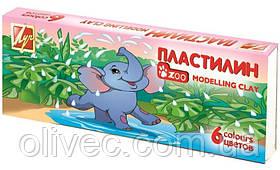 "Пластилин ""Луч zoo"" 6 цветов, 81 г."