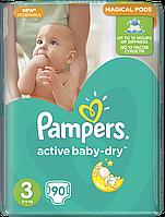 Подгузники Pampers Active Baby-Dry Размер 3 (Midi) 5-9 кг, 90шт
