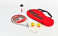 Набор для большого тенниса WILSON WRT298000 ROGER FEDERER (1ракетка+2мяча+бутылка для воды)