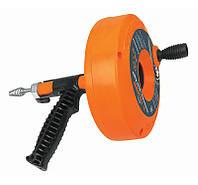Пистолет для чистки дренажных систем, пластик 7,6м,TRUPER,DECA-25,Киев