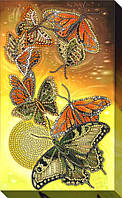 """Набор для вышивки бисером """"Сверкающие бабочки"""""""
