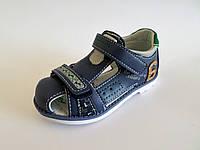 Босоножки для мальчика на липучках с закрытым носком