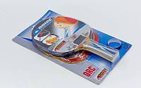 Набор для настольного тенниса 1 ракетка, 2 накладки DONIC LEVEL 600 МТ-752518 BAT QRC (древесина)