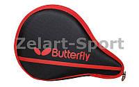 Чехол на ракетку для настольного тенниса BUTTERFLY 62140006 NAKAMA (PL, черно-красный,р-р 30х3х19см)