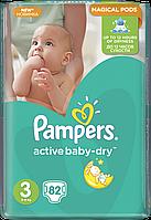 Подгузники Pampers Active Baby-Dry Размер 3 (Midi) 5-9 кг, 82 шт.