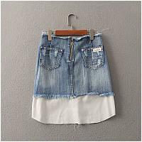 Модная джинсовая юбка на лето