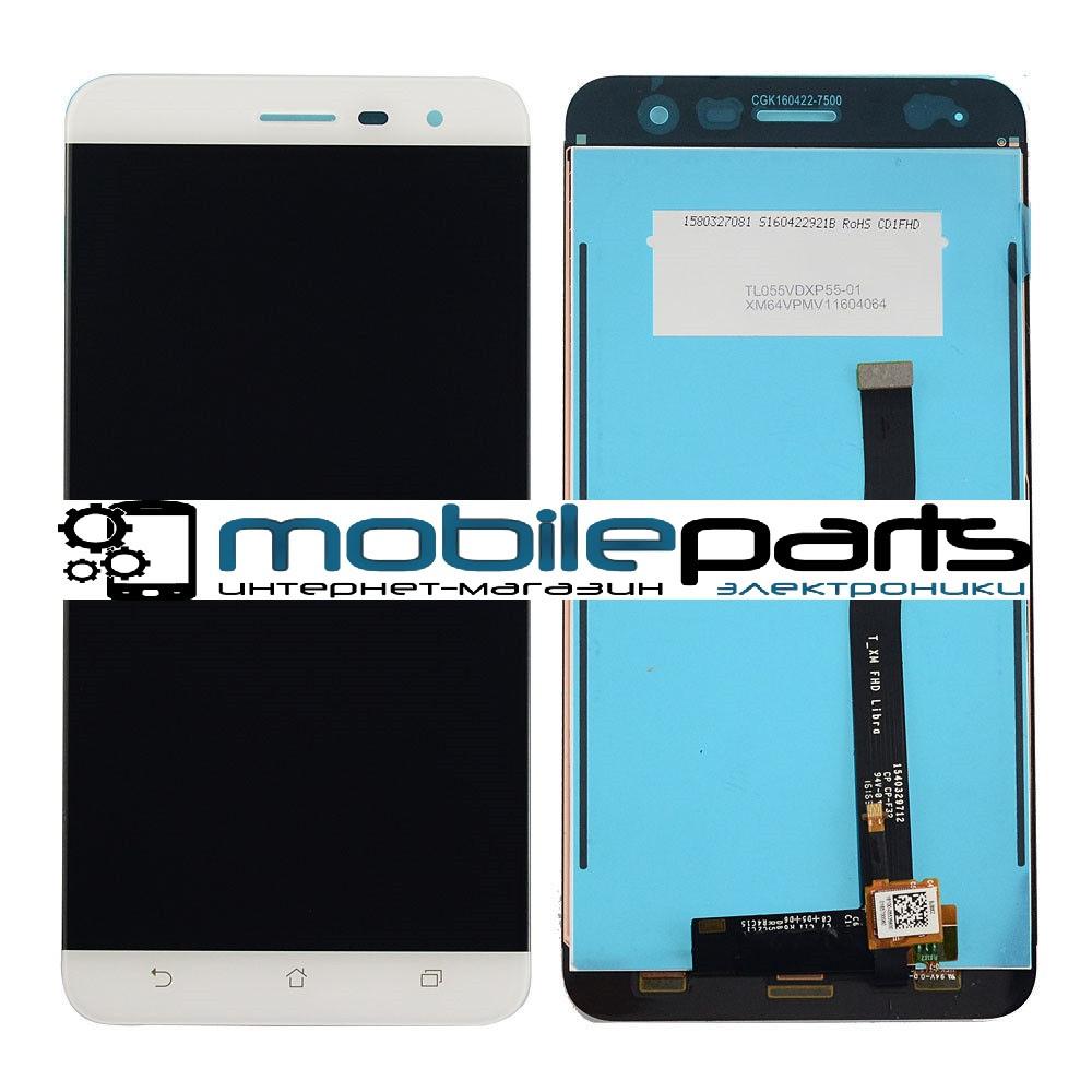 Оригинальный Дисплей (Модуль) + Сенсор (Тачскрин) для Asus Zenfone 3 | ZE552KL (Белый)