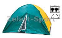 Палатка кемпинговая 6-и местная с тентом SY-021 (р-р 2,2х2,5х1,5м, PL)