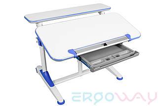 Комплект Детская парта растишка трансформер Ergoway T350L + кресло M350 Blue + ПОДАРКИ, фото 3