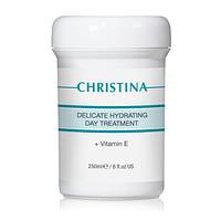 Нежный увлажняющий дневной крем с витамином Е для нормальной и сухой кожи, 250 мл
