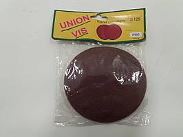 Круг(липучка) наждачный самоклеющийся 125мм Р80 упаковка10шт (UNION VIS)