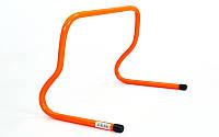 Барьер беговой (1шт) C-4592-30 (пластик, р-р 30x46x30см, оранжевый)