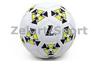 Мяч резиновый Футбольный №4 S014 (резина, вес-370-400г, белый-желтый)