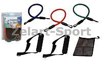 Эспандер Resistance Band многофункциональный 3 жгута PS FI-308-3 (р-р 11,2x2,5мм,10,5x2мм,9,7x1,6мм)