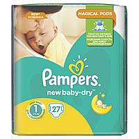 Подгузники Pampers New Baby-Dry Размер 1 (Для новорожденных) 2-5 кг, 27 шт