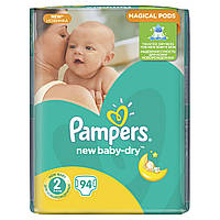 Подгузники Pampers New Baby-Dry Размер 2 (Mini) 3-6 кг, 94 шт