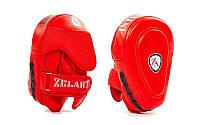 Лапа Изогнутая (2шт) Кожа ZEL ZB-6102 (крепление на липучке, р-р 23x11x18 см, синяя, красная)