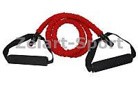 Эспандер трубчатый с ручками в защитном рукаве CE6502-R (латекс.жгут, d-7 x 12мм, l-120см, красный)