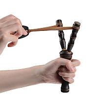 Рогатка игрушечная деревянная 19х12 см, бамбук