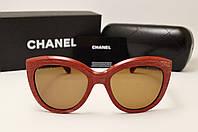 Женские солнцезащитные очки Chanel 5232 LUX (Красный цвет)