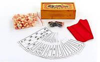 Лото настольная игра в бамбуковой коробкеB9505 (90дер.боч, 24карт, 40пл.фиш, р-р 24x10x7,5см)
