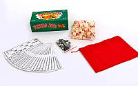 Лото настольная игра в цветной картонной коробке IG-8815-G Русское лото (р-р 23x13x7,5см , зеленый)