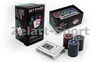 Покерный набор в картонной коробке-60 фишек 701828 (c номиналом,1 кол.карт)
