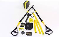 TRX Петли подвесные тренировочные PRO PACK P3 FI-3727-06 (фун.петли, обрезин. ручки, черный-желтый)