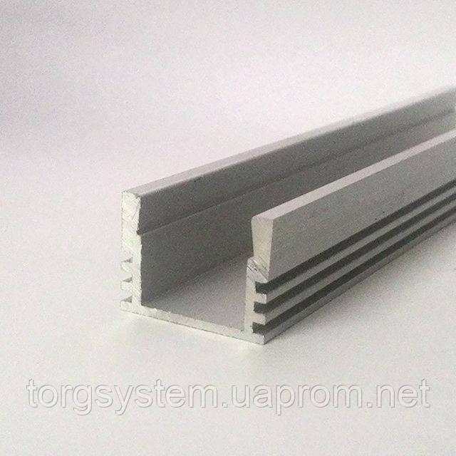 Алюминиевый профиль для светодиодной ленты (LED) накладной 207 анодированный