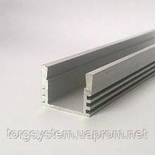 Алюмінієвий профіль для світлодіодної стрічки (LED) накладної 207 анодований