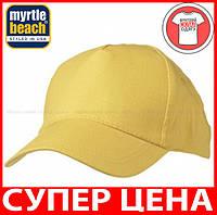 Пятипанельная кепка для промо акций цвет СОЛНЕЧНО-ЖЕЛТЫЙ mb001