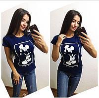 """Женская красивая футболка """"Микки"""" (7 цветов), фото 1"""