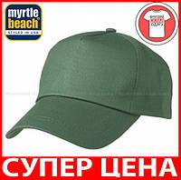 Пятипанельная кепка для промо акций цвет ТЕМНО-ЗЕЛЕНЫЙ mb001