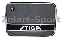 Чехол на ракетку для настольного тенниса STIGA SGA-884801 STYLE (полиэстер, серо-черный,р-р 30х21см)