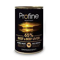 Консервы Profine Beef & Beef liver для собак, говядина и печень, 400 г