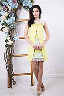 Женское салатовое платье Юлианна ТМ Irena Richi 42-48 размеры