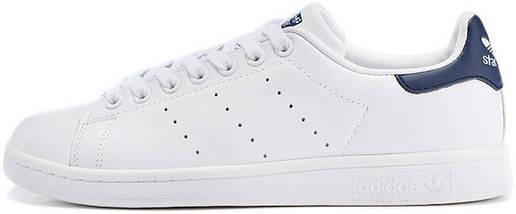 Кроссовки в стиле Adidas Stan Smith White Blue купить в интернет ... c16bb338a27